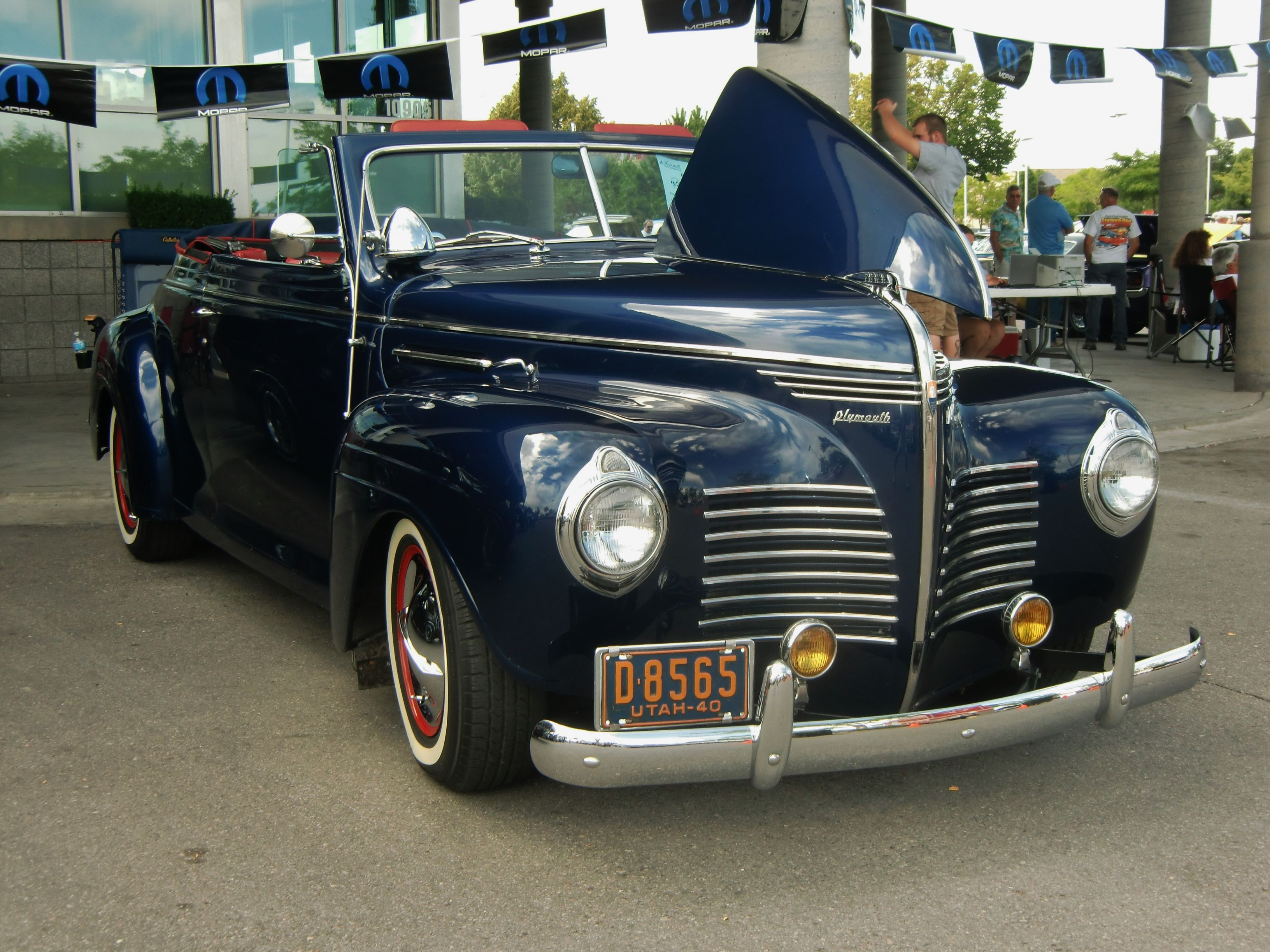 1940 Plymouth convertible. Photography by David E. Nelson