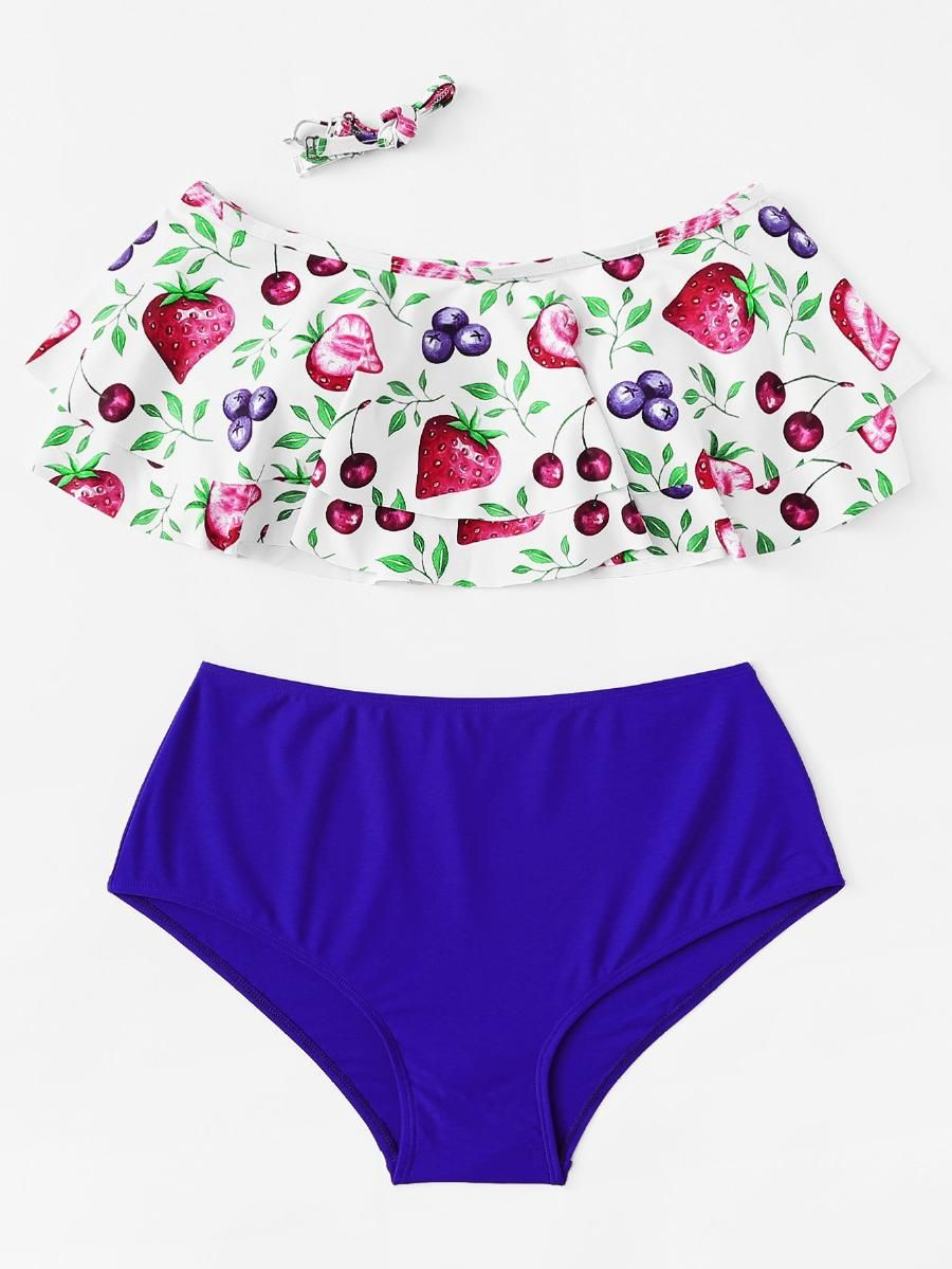 3d388e7f3d5 Fruit Print Bikini Set -SheIn(Sheinside)