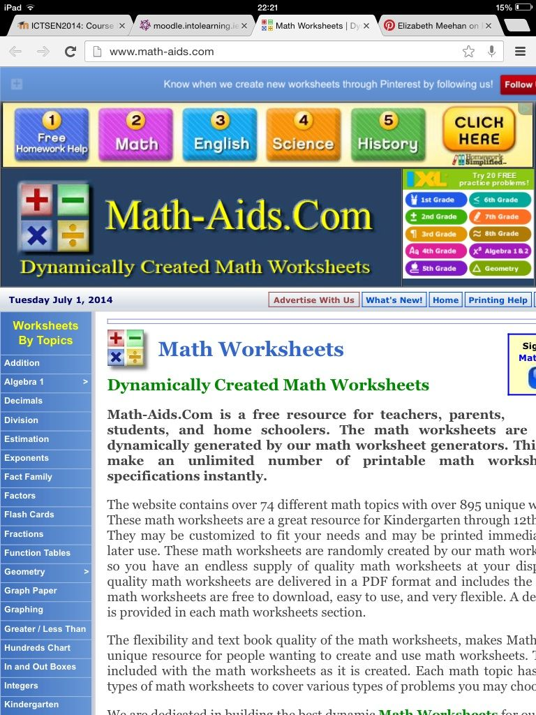 Create your own Maths Worksheets | DIY Resources | Pinterest | Math ...