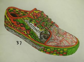 58797cfad1 Vans Shoe Design Contest - South Central High School Visual Art Department.  Van Shoes