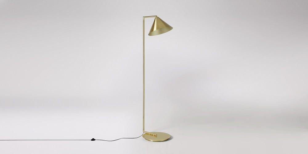 Faye Brass Plated Floor Lamp | Swoon | Floor lamp ...