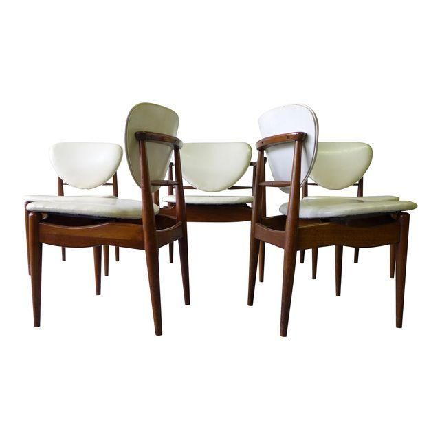 Captivating Image Of Mid Century John Stuart Dining Chairs   S/6