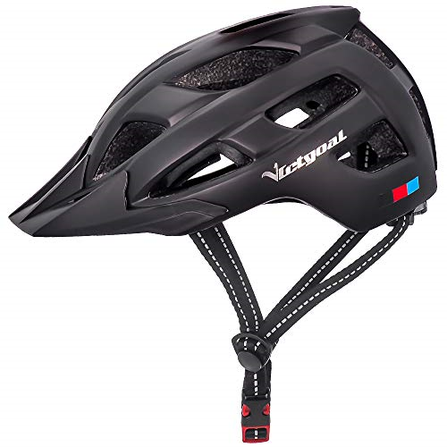 Cycling Bike Helmet With Detachable Visor Insect Net Padded Cycle