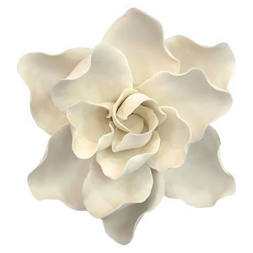 Ceramic Flower Wall Décor White Threshold Decor