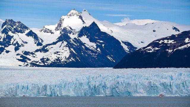 Aquél es Los Glaciares National Park en Santa Cruz, Argentina. Los más grandes capas de hielo fuera de Groenlandia y la Antártida están aquí.
