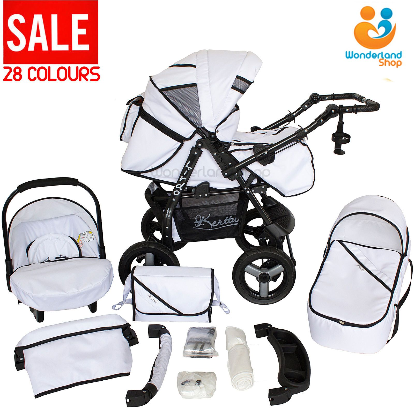 Baby pram stroller pushchair car seat carrycot travel system buggy 28 colours