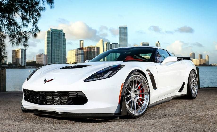 even though white is probably the least cool color for a car as aggressive and as macho as the 2015 corvette the guys from wheels have manage - Corvette 2015 White