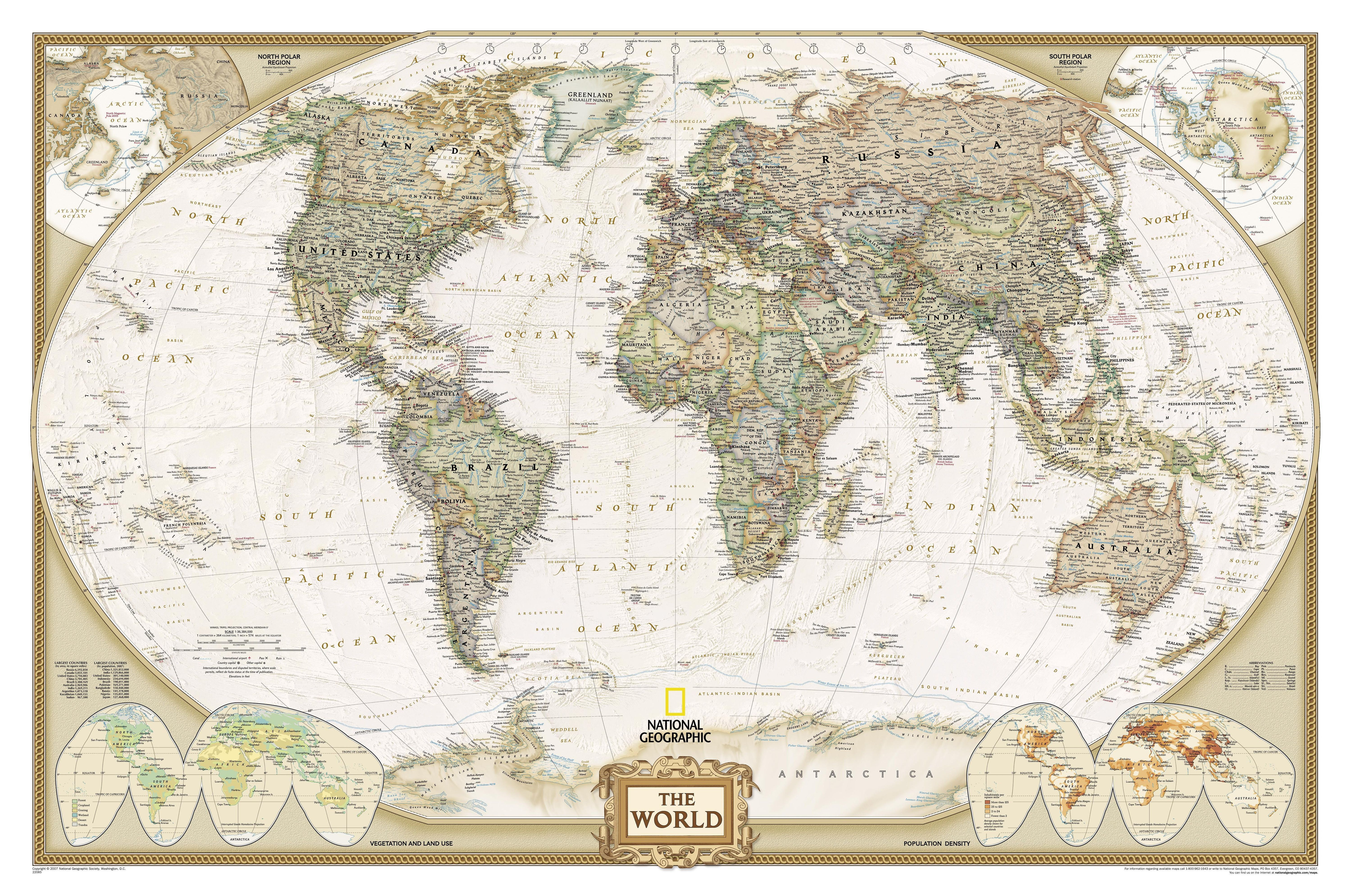 Mapa mundial tamao enorme the world httpiminus world executive map antique tones two sizes and spanish available map type enlarged tubed x national geographic maps sciox Images