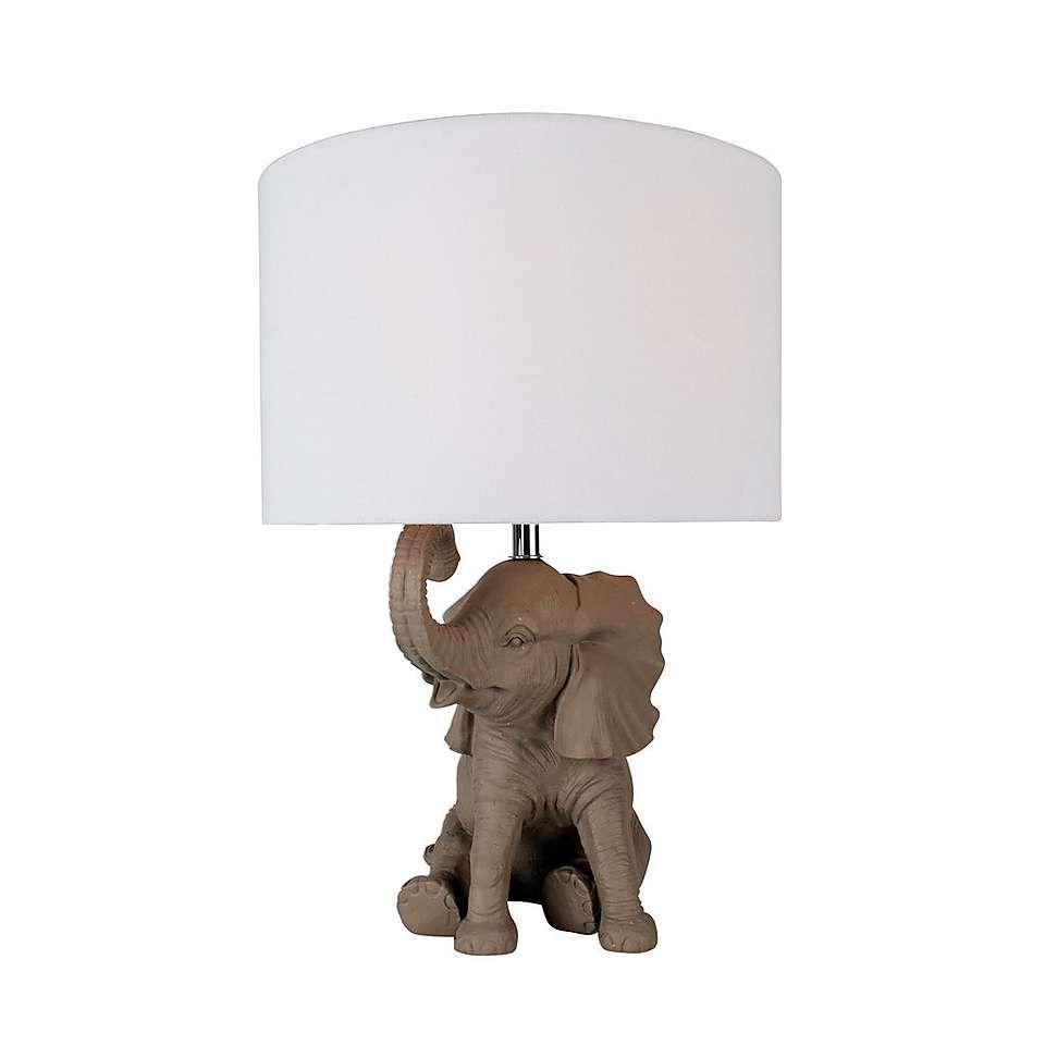 Savannah Elephant Table Lamp | Dunelm
