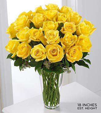 Long Stem Yellow Rose Bouquet Yellow Flower Arrangements Yellow