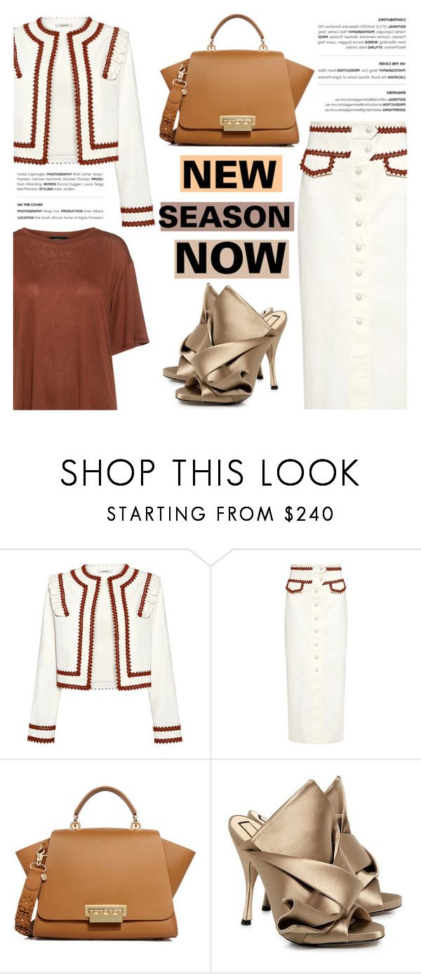 """""""New Season NOW!"""" by ifchic ❤ liked on Polyvore featuring Ganni, ZAC Zac Posen, N°21, Theory and contemporary"""