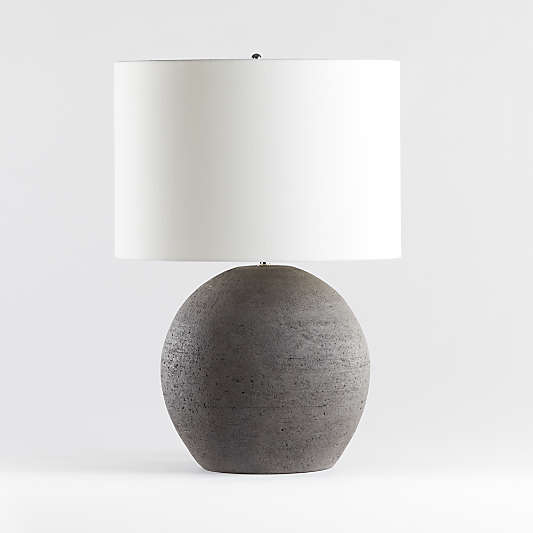 Table Lamps For Bedside And Desk Crate And Barrel In 2020 Round Table Lamp Modern Side Table Lamp Table Lamp