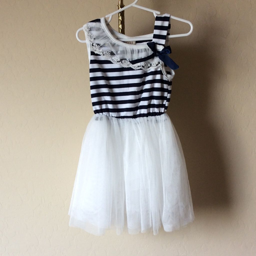 Navy blue striped tulle dress tulle dress and products