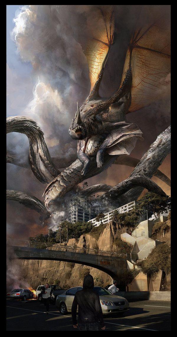 Winged Serpent in Santa Monica by KangJason