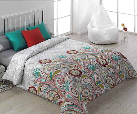 Juego nórdico Tijuana para cama de 180 cm, rojo - 4 piezas