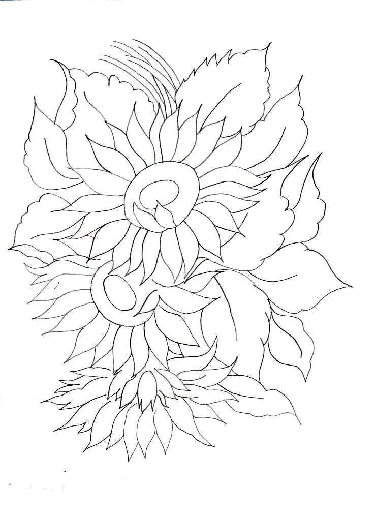 Resultado de imagen para patrones de girasoles para bordar | bordado ...
