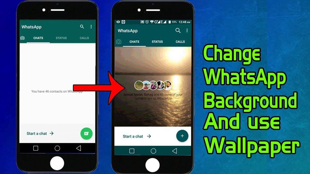 How To Change Your Whatsapp Home Screen Background Wallpaper And Use You Homescreen Whatsapp Background Wallpaper
