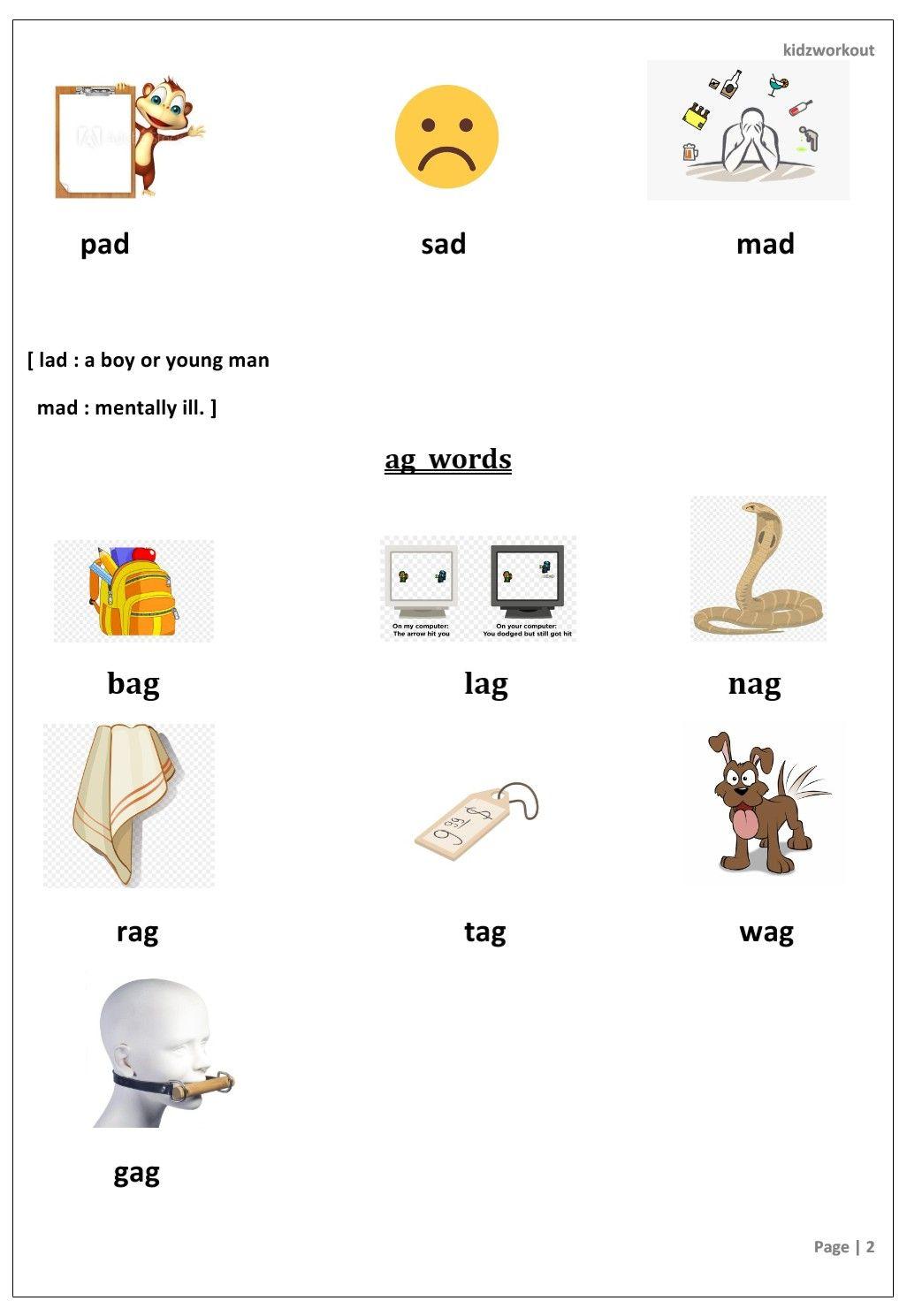 Three Letter Words Short Vowel