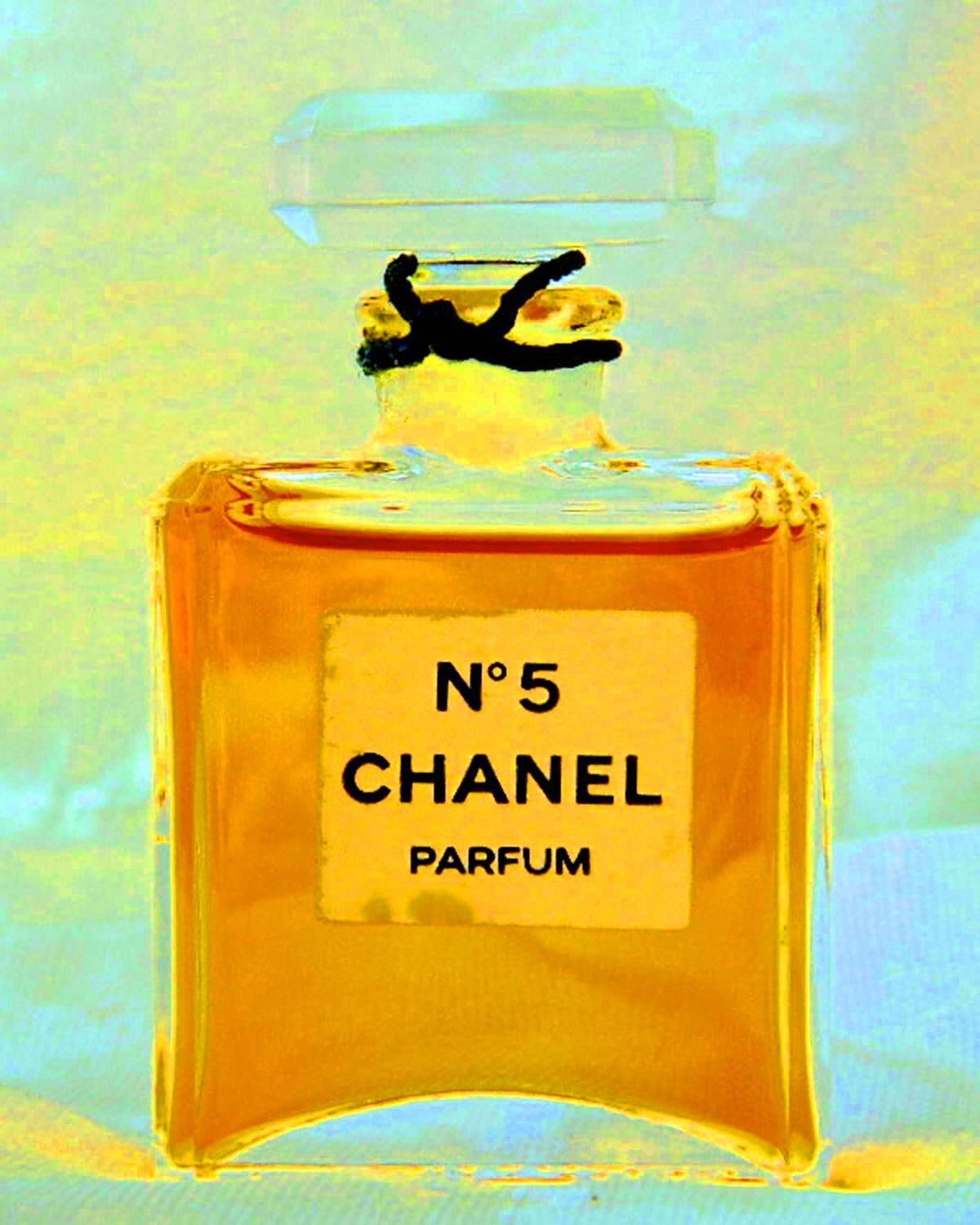 50% Off Vintage Chanel #5 Perfume Bottle Print Portrait Celebrity ...