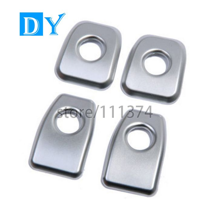 Set of Front and Back PATRICON 4-Pieces for Mercedes Benz Accessories Chrome Metal Frame Screw Bolt Caps Covers