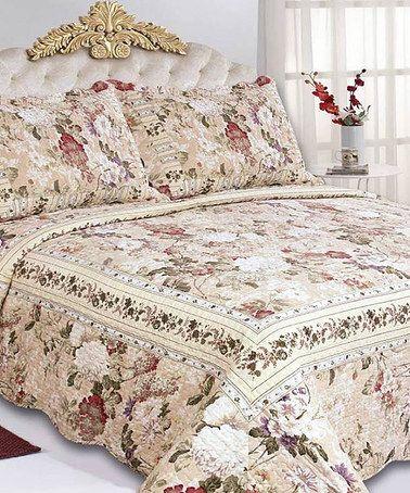 Look what I found on #zulily! Garden Rosemary Three-Piece Comforter Set #zulilyfinds