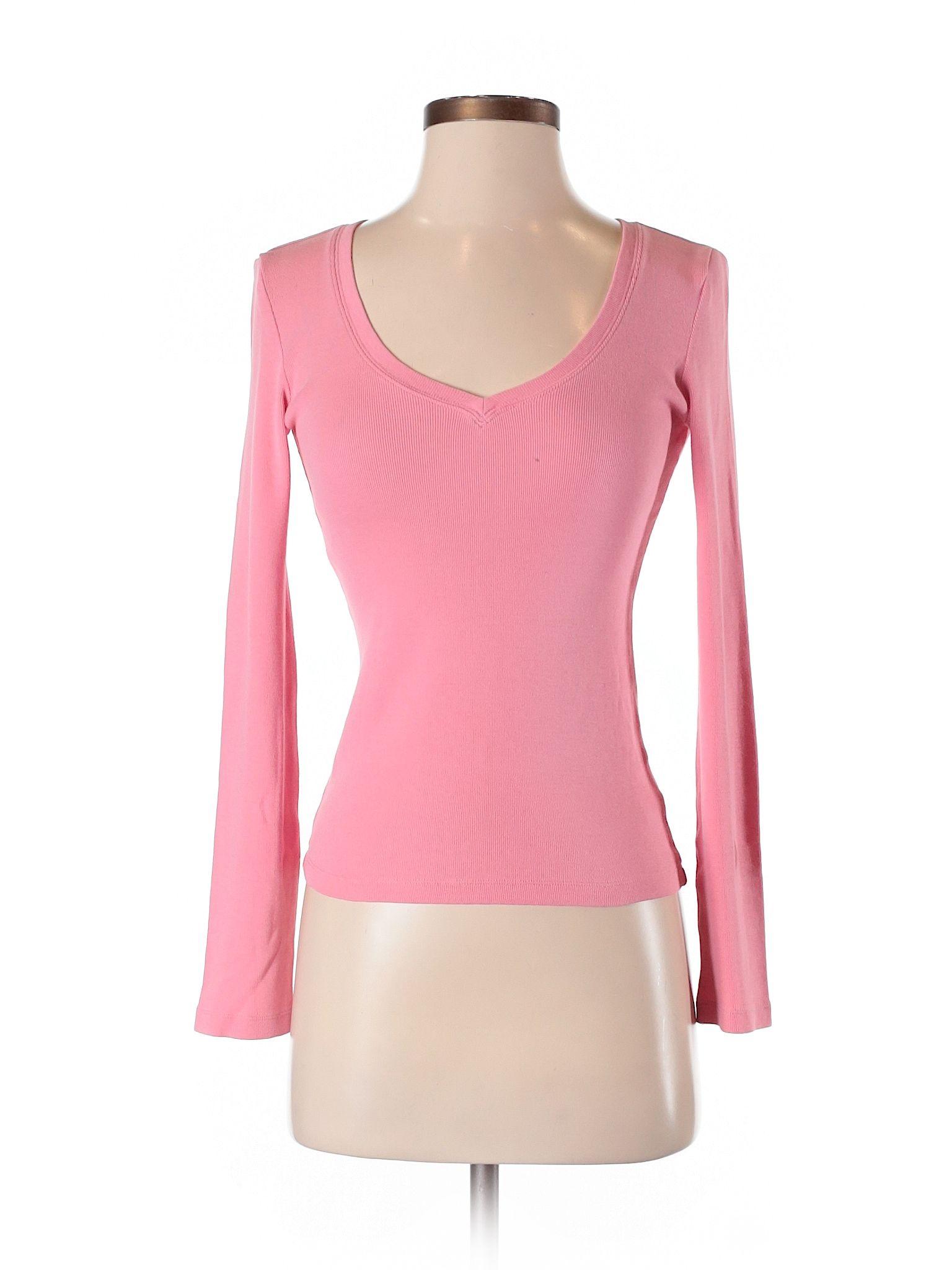 Club Monaco Long Sleeve T Shirt Size 000 Light Pink