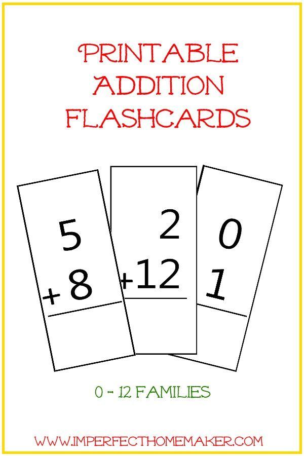 free printable addition flashcards kindergarten addition flashcards homeschool math math. Black Bedroom Furniture Sets. Home Design Ideas