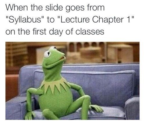 Welcome back to spring classes.