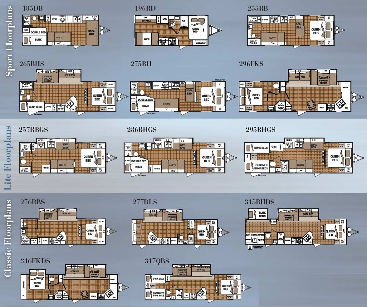 Dutchmen travel trailer floorplans - 14 models | Camping Hiking ...