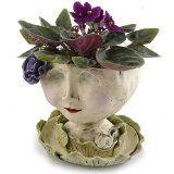 Victorian Lovelies Sculpted Indoor Head Planter: Lily Rose Version