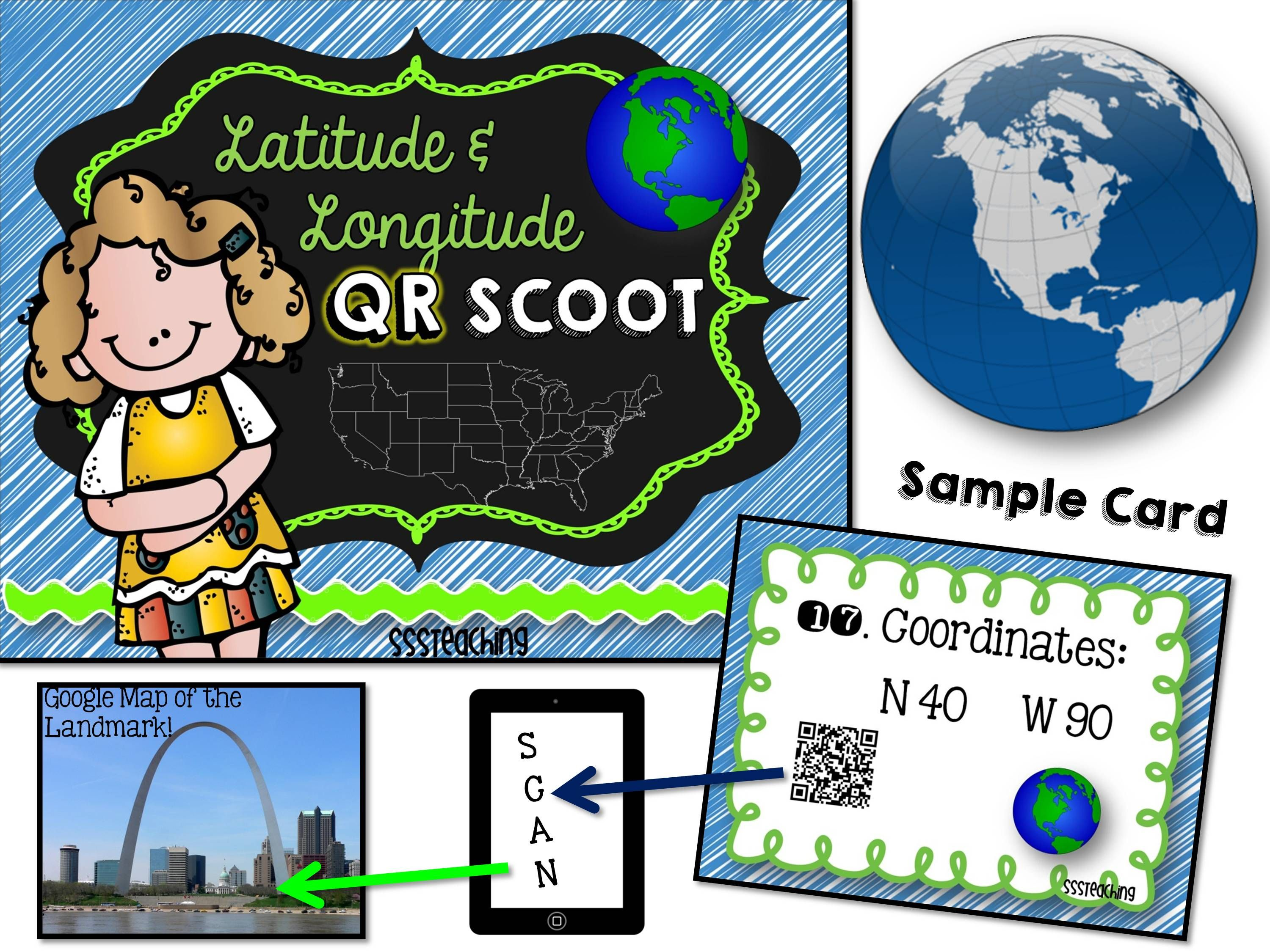 Excellent And Engaging Resource For Latitude And Longitude Or Geography Bringing In Technology