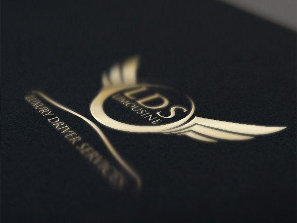 Creation Logo Et Cartes De Visite Pour Location Voiture Avec Chauffeur Impression Dorure A Chaud