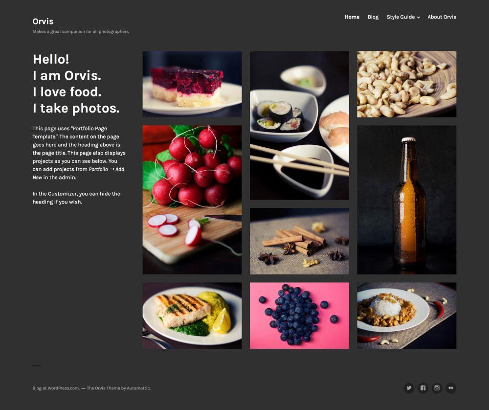 Orvis Free Responsive Portfolio WordPress Theme Freebies CSS CSS3 ...