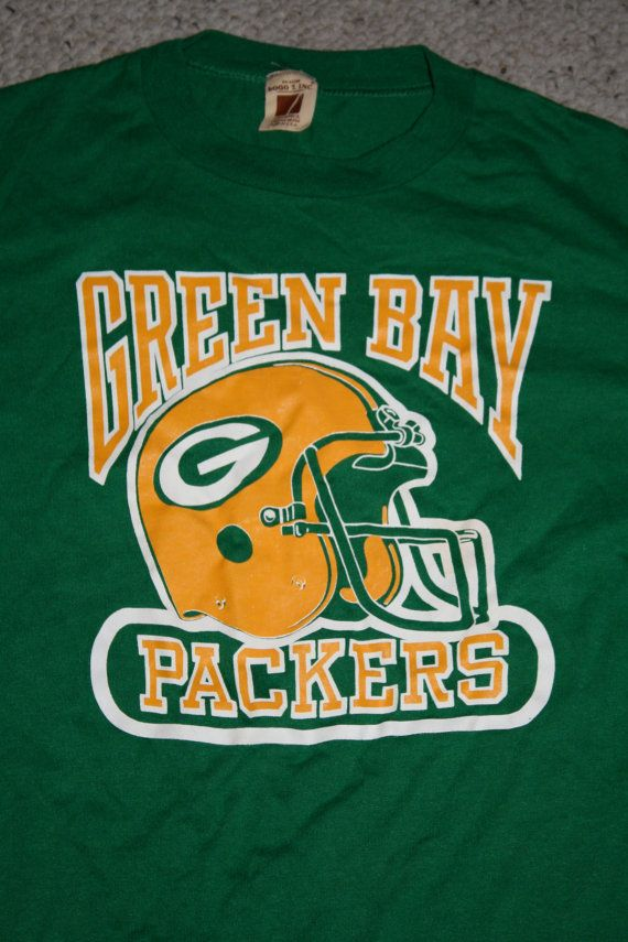 dc0a5e831db Vintage green bay packers shirt | Etsy goodies | Green bay packers ...