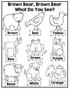 Resultado de imagen de brown bear brown bear activities  School