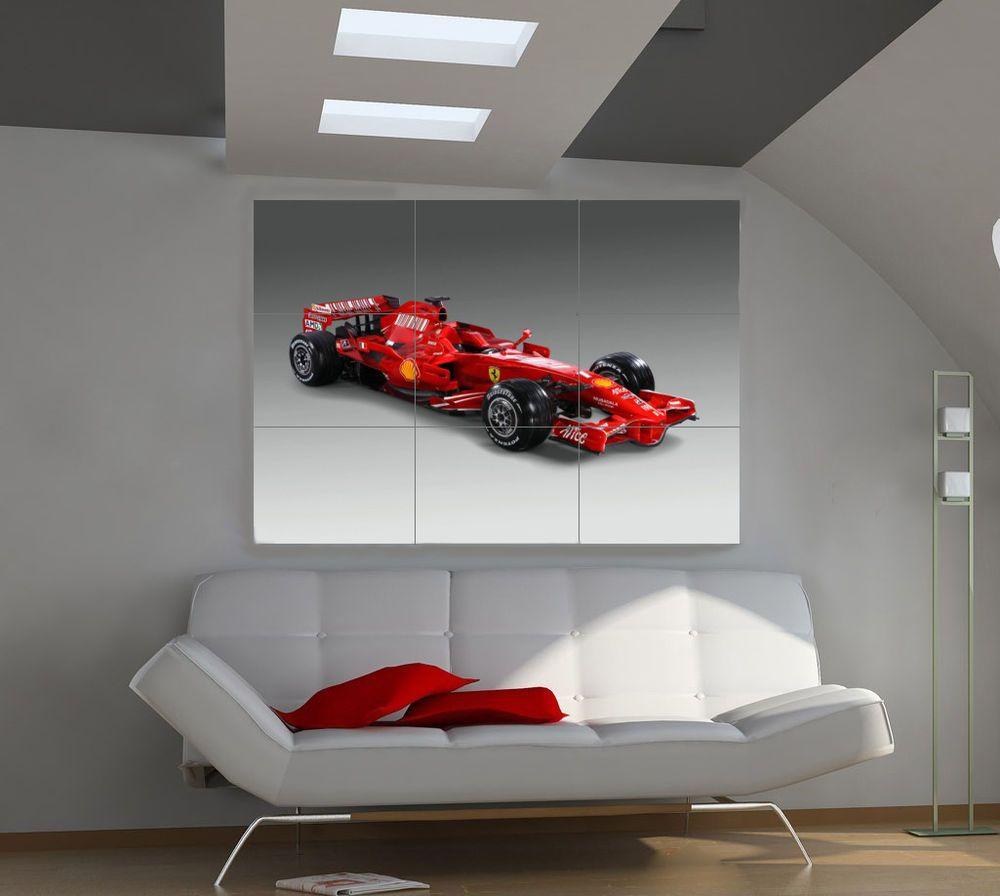 """Ferrari Sports Car poster wall art home decor photo print 24x24/"""" inches"""