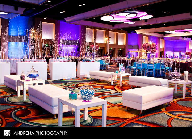 Cocktail Party Decorations Ideas Part - 16: Elegant Purple Lighting For A Wedding, Prom, Sweet 16 Or Any Other Event  You Can Imagine. The Berkeley Plaza, Berkeley Heights, New Jersey Learn U2026