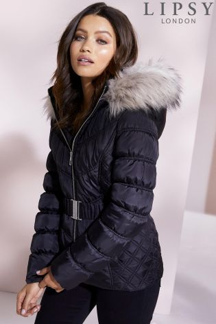 29530af290b Buy Lipsy Short Belted Puffer Coat from the Next UK online shop ...