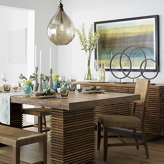 Paloma Ii Dining Table Crate And Barrel Reclaimed Wood Dining
