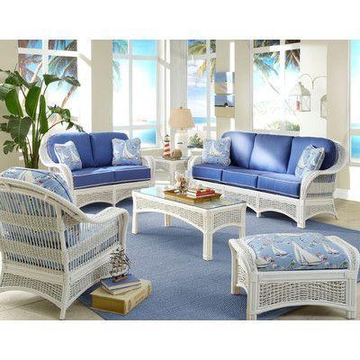 White Wicker Furniture, White Wicker Living Room Furniture