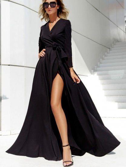 вечернее платье с запахом купить