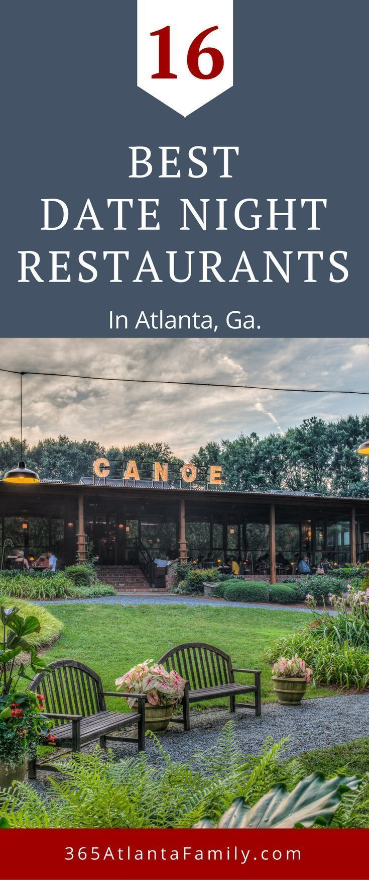 The Best Date Night Restaurants In Atlanta, Georgia. We introduce you to 16 of the best date night restaurants in Atlanta you won't want to miss. They boast romantic settings plus menus that skew toward sophisticated flavors with nary a chicken finger in sight, even the biggest foodies will love these recommendations. From downtown Atlanta, to Midtown, to Buckhead, we've vetted the cuisine and settings to keep the guesswork out, so that you can enjoy! #Atlanta #Georgia #Buckhead #travel #foodie