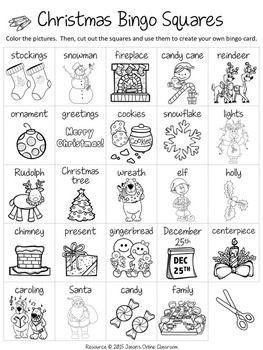 Christmas Bingo Cards By Jason S Online Classroom Teachers Pay Teachers Christmas Bingo Bingo Card Template Christmas Bingo Printable