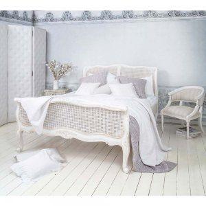 beautiful white wicker bedroom furniture | Provencal White Rattan Bed. French Bedroom Rattan Bed ...