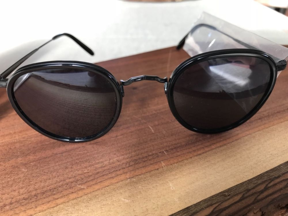 Authentic Oliver Peoples MP 2 SUN 1104S 5062R5 Sunglasses BLK //BLUE *NEW* 48mm