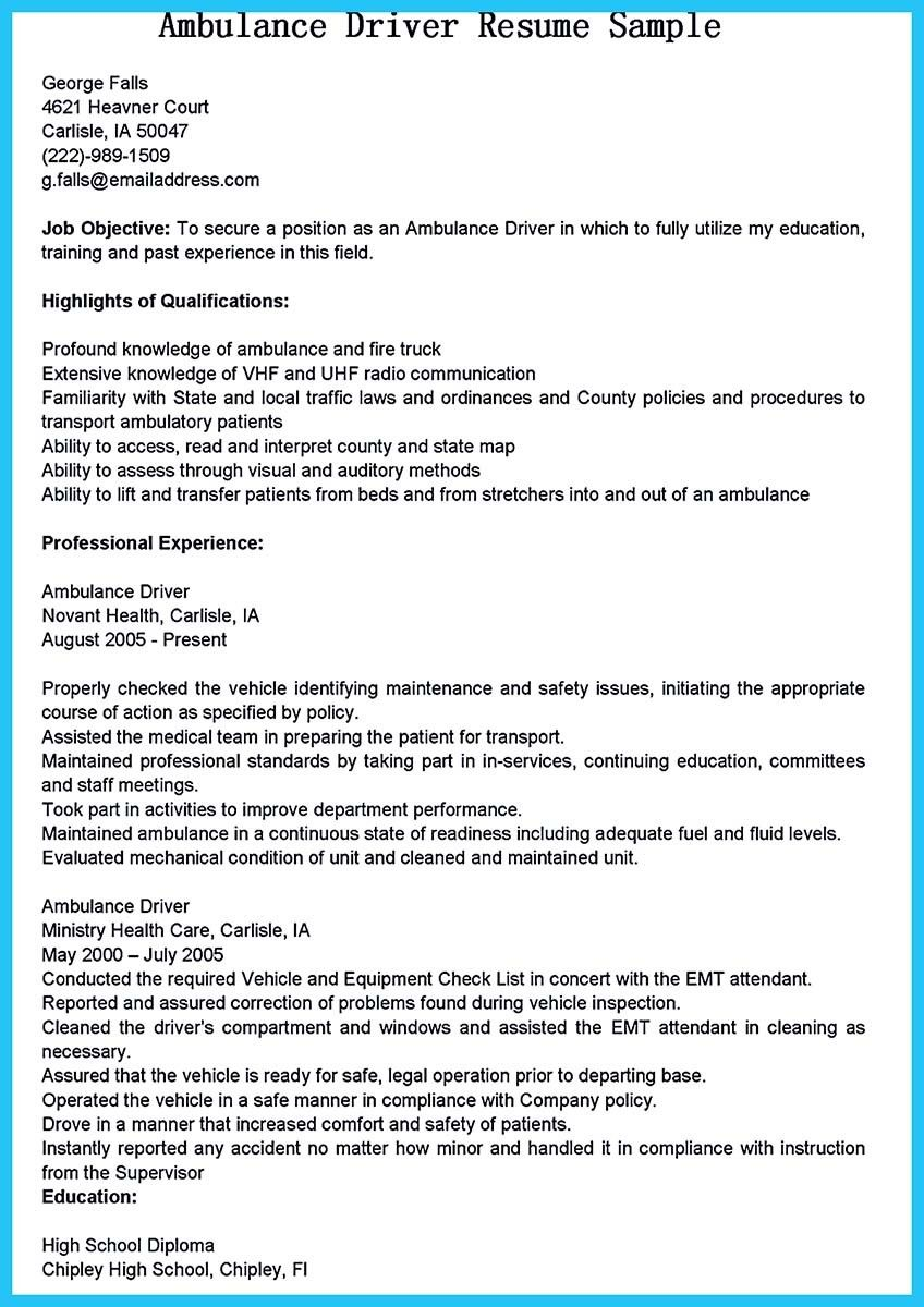 Cool Stunning Bus Driver Resume To Gain The Serious Bus Driver Job Driver Job School Bus Driver Resume