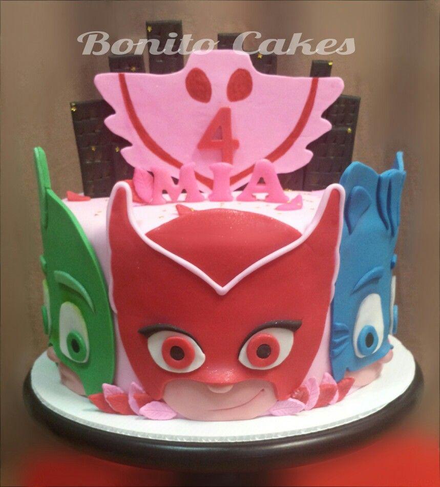 Pj Masks Cake Owlette Pink