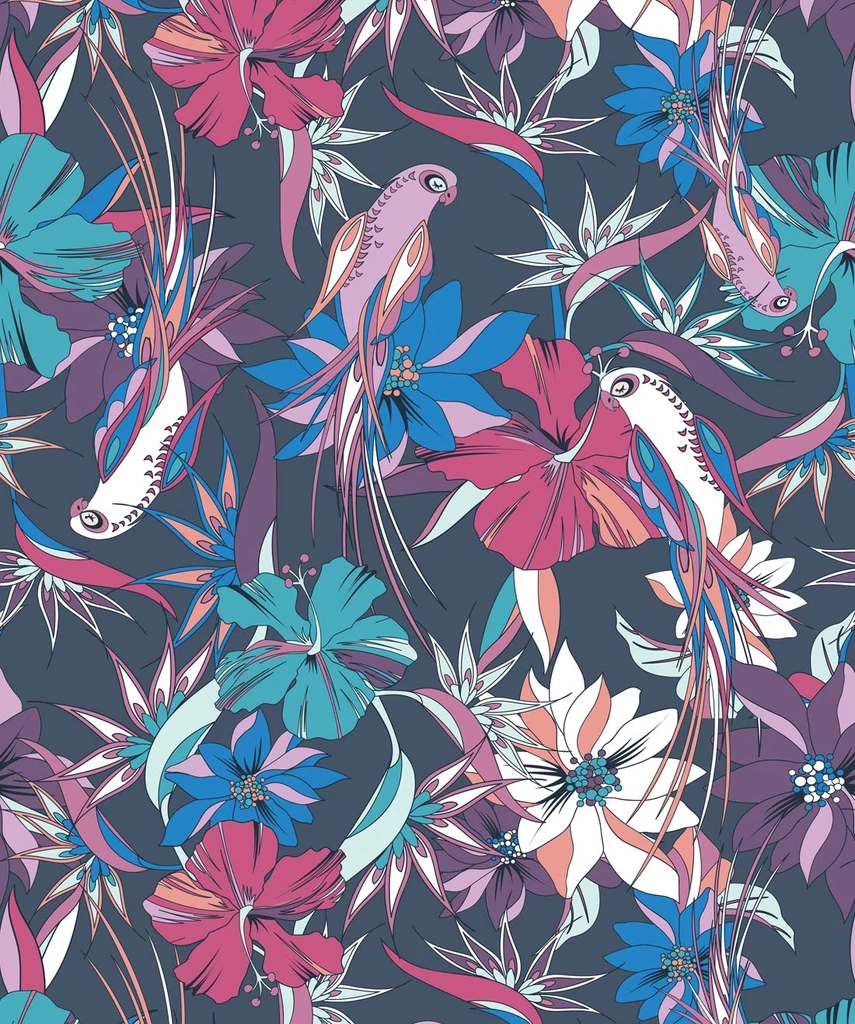Parrot Paradise Wallpaper from the Wallpaper Republic