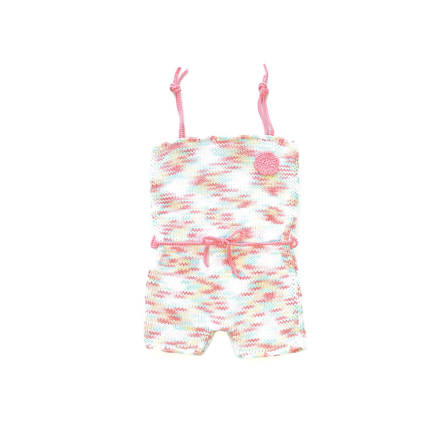 Multicolor baby romper Baby girl playsuit Baby beach outfit Baby
