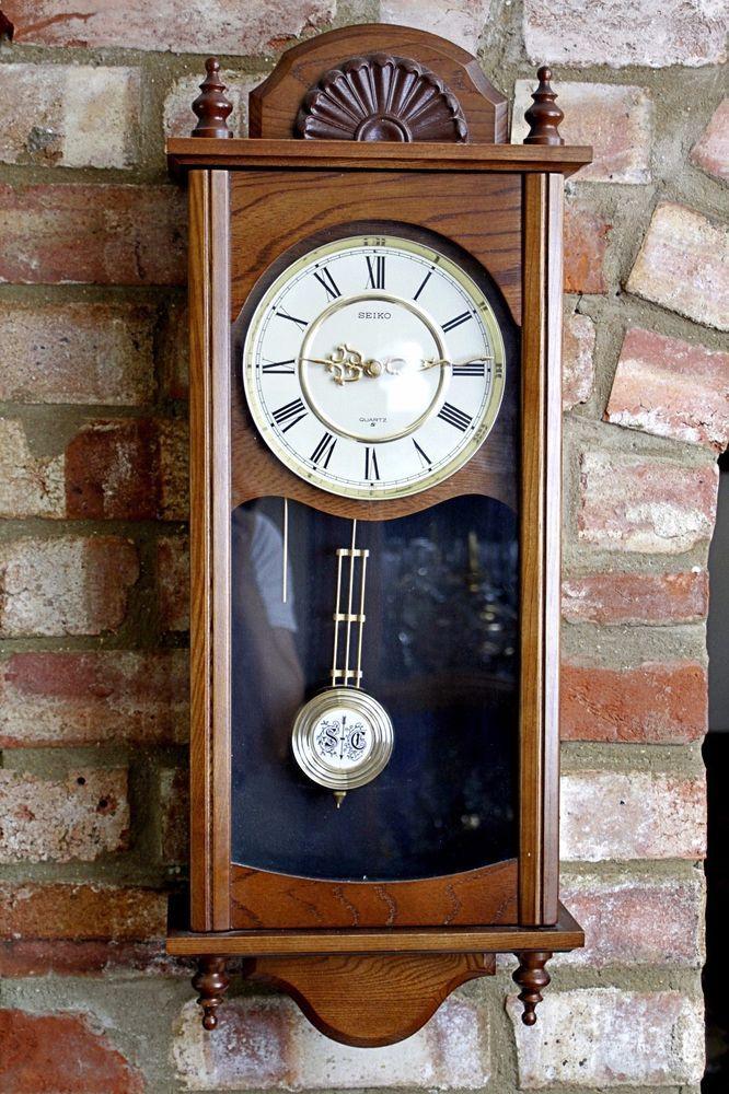 Vintage Japanese Seiko Quartz Wall Clock With Chimes Chiming Wall Clocks Antique Wall Clock Clock